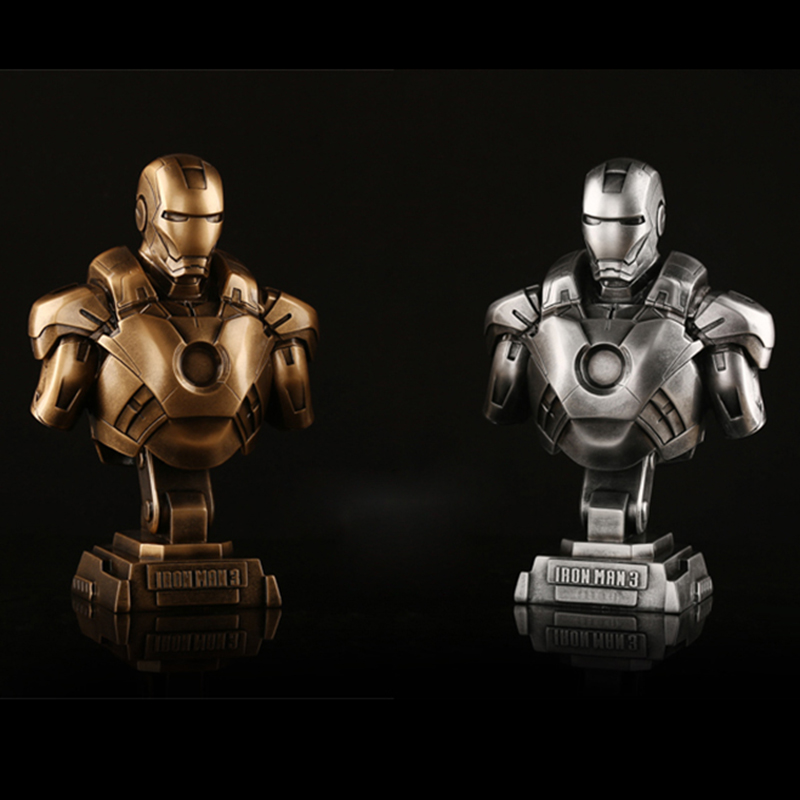 The Avengers Iron Man Bust Figure MK43 MK45 Model Resin Figure Ornaments Birthday Gift Sculpture Arts Collection 5 Styles