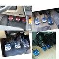 Автомобильные Нескользящие наклейки для стоп из алюминиевого сплава  накладка на педаль автомобиля  подходит для Solaris RIO Duster Polo Almera Clio IV Octavia ...
