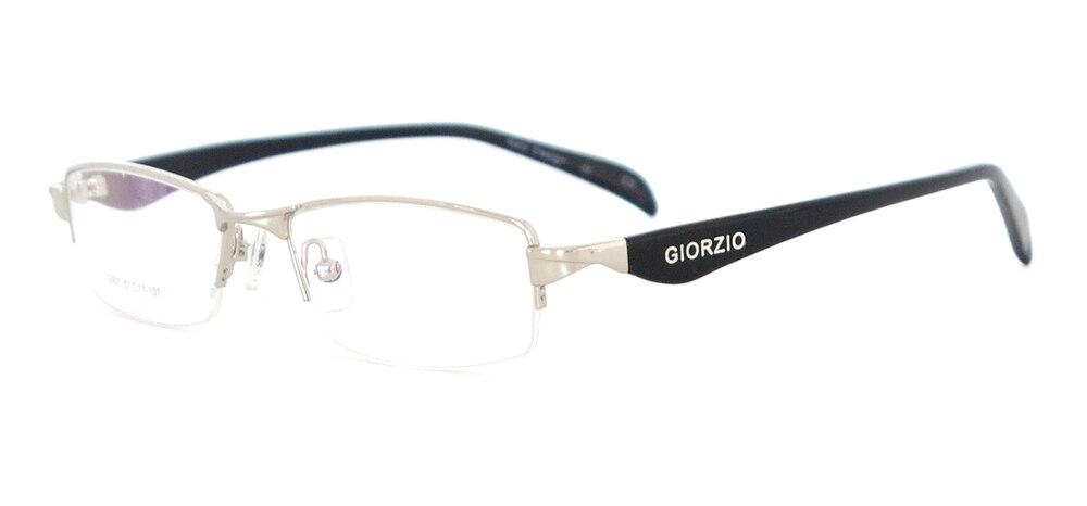 Мужская классическая оправа для очков прямоугольная металлическая полуоправа очки для рецептурных линз Близорукость прогрессивная - Цвет оправы: Серебристый
