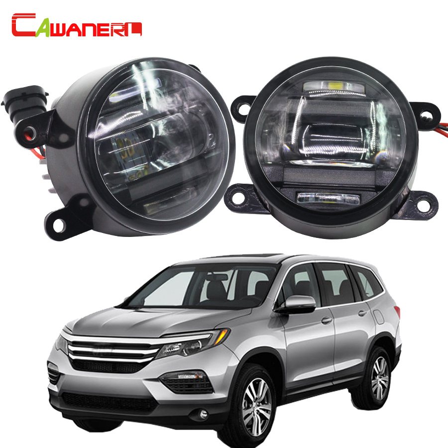 Cawanerl For Honda CR-V Pilot Accord Car Styling Right + Left Fog Light LED Daytime Running Lamp DRL 2 Pieces