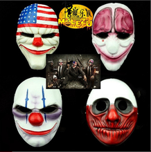 High-grade Payday 2 The Heist Dallas/Wolf/Chains/Hoxton Resin Masks Halloween Party Cosplay Masquerade Costume Collection Props браслет hoxton