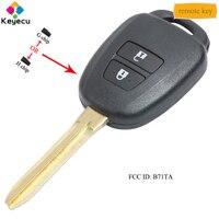 KEYECU Ersatz Fernbedienung Auto Schlüssel 2 Tasten & 433MHz & G/H Chip Optional FOB für toyota Yaris RAV4 2012 2015 FCC ID: b71TA-in Autoschlüssel aus Kraftfahrzeuge und Motorräder bei