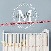 Personalized Boy Name Nursery Children Bedroom Wall Sticker Vinyl Decal Kids Children Room Custom Name Vinyl Wall Decal AY401