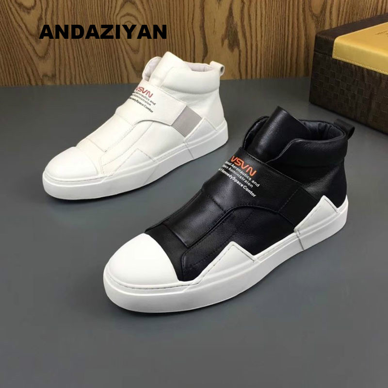 New leather plus velvet high shoes European station men shoes British Martin boots warm cotton shoesNew leather plus velvet high shoes European station men shoes British Martin boots warm cotton shoes