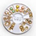 Caramelo perla simulada Rhinestone decoración de uñas de Metal Mix sirena diseño de la luna joya joya de la decoración manicura accesorios de ruedas