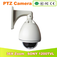 YUNWYE Analog Camera SONY CCD 1 3 1200TVL 36X PTZ Dome High Speed Dome Camera CCTV