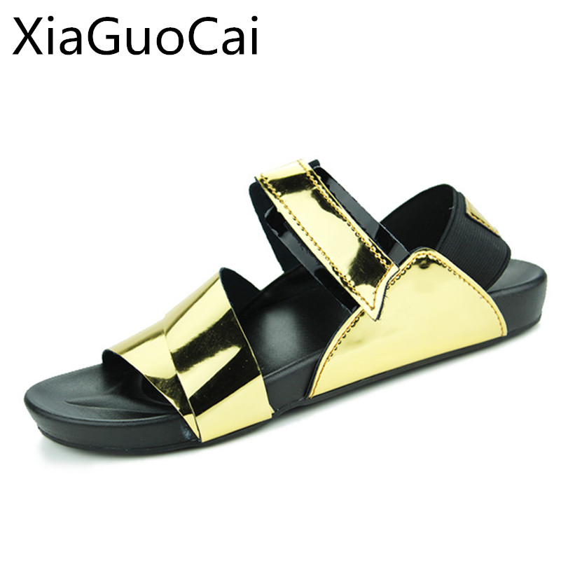 99 Gladiator Fashion Metal In Us15 gold Summer Men Male Footwear Men's Mens New Decoration Beach 35Off Hot Sandals Sale kX0wOP8n