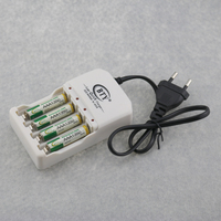 4PCS BTY Rechargeable 1350mAh 1 2V Ni MH AAA Batteries Battery 1PC AC 110 220V Charger