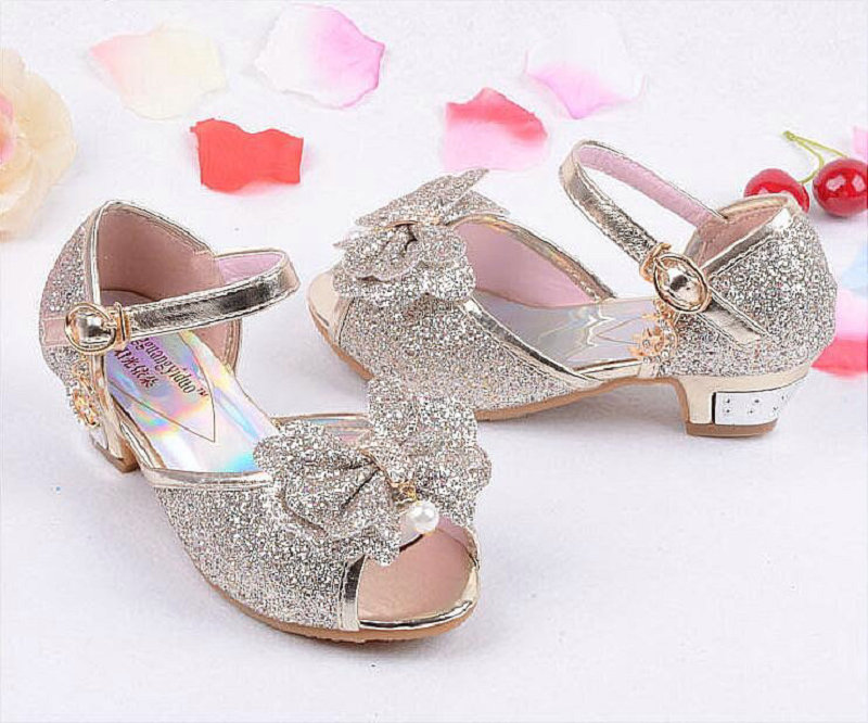 2e981582e07d New Summer Princess Sandals Children s Mules Clogs Shoes Kids Girls Wedding  Shoes High Heels Leather Bowtie Dress Shoes-in Sandals from Mother   Kids  on ...