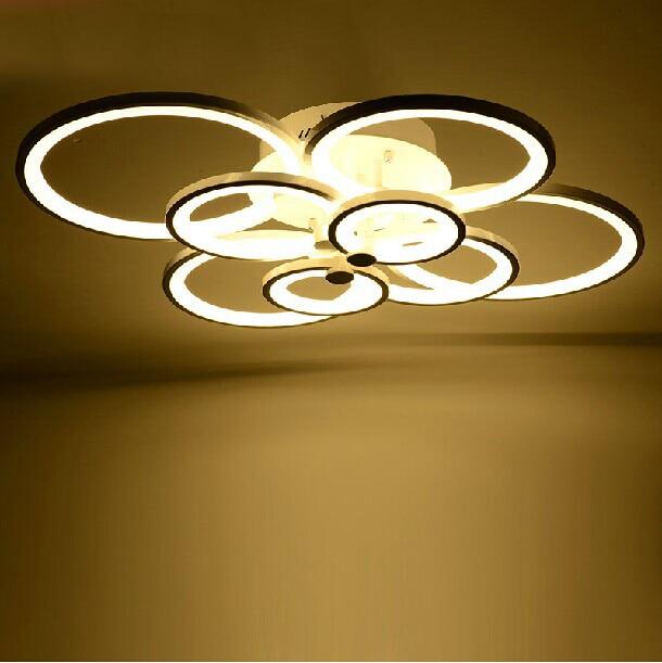 Large flush mount ceiling light fixtures migrant resource network free shipping 8 rings led ceiling lights 110 240v flush mount aloadofball Images