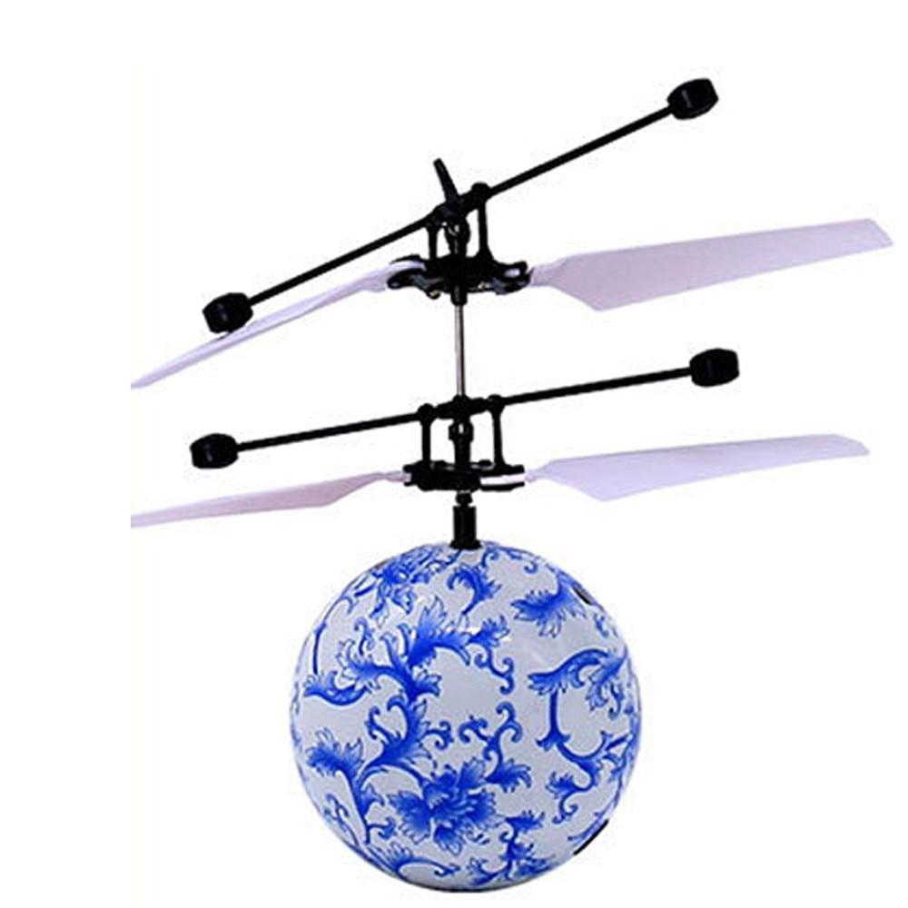 RC mänguasi EpochAir lendav palli drooniga helikopter sisseehitatud läikiv LED-valgustus lastele teismelistele värvikirevad lennud mänguasjad