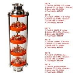 2018 de cobre nueva de la columna de destilación con 4 secciones para destilador de la columna de vidrio