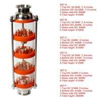 Nouvelle colonne de Distillation à bulles de cuivre avec 4 sections pour colonne de verre distillateur