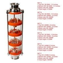 Nova coluna de destilação de bolha de cobre com 4 seções para a coluna de vidro do destilador
