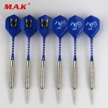 New 6pcs Steel Tip Darts Heavy dart Straight with Aluminum Pole Darts Professional Needle dart for Indoor Outdoor Game