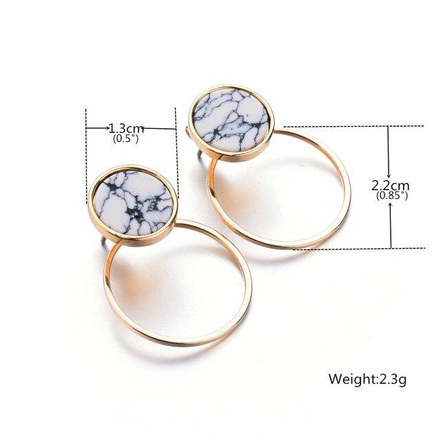 Geometric Faux Stone Stud Earring