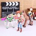 4 pçs/set Toy Story 3 Buzz Lightyear Woody Jessie PVC figuras de ação brinquedos Dolls criança brinquedos frete grátis