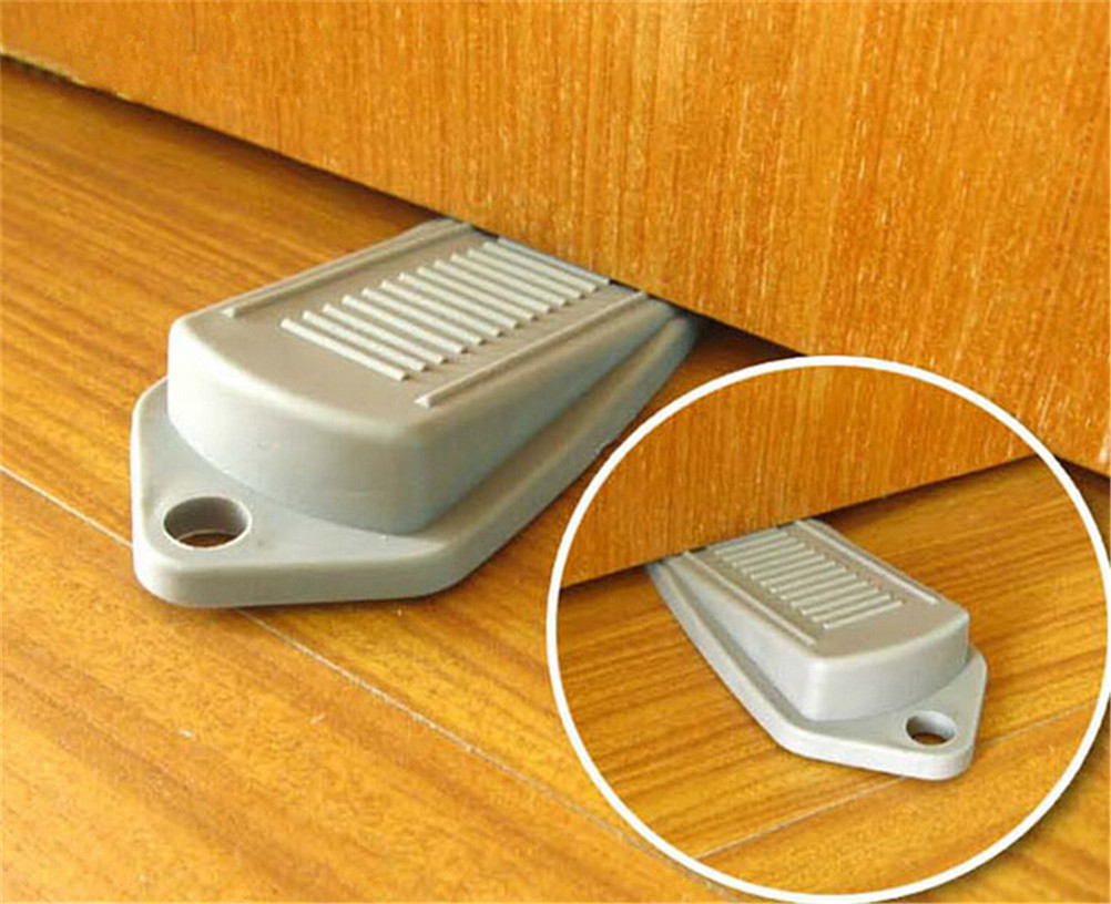 jetting 1 pcs rubber door stop stoppers safety keeps door from slamming prevent injurychina