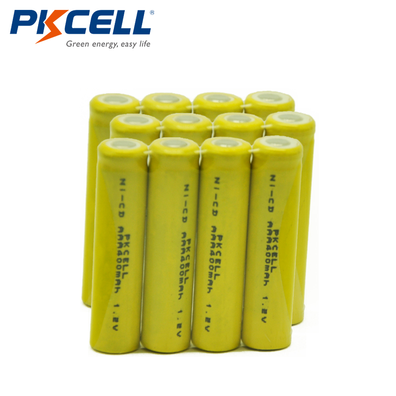 12pcs/lot PKCELL AAA 3A 400mAh <font><b>1.2</b></font> <font><b>V</b></font> <font><b>Ni</b></font>-<font><b>CD</b></font> Rechargeable Battery Cell Free Shipping image