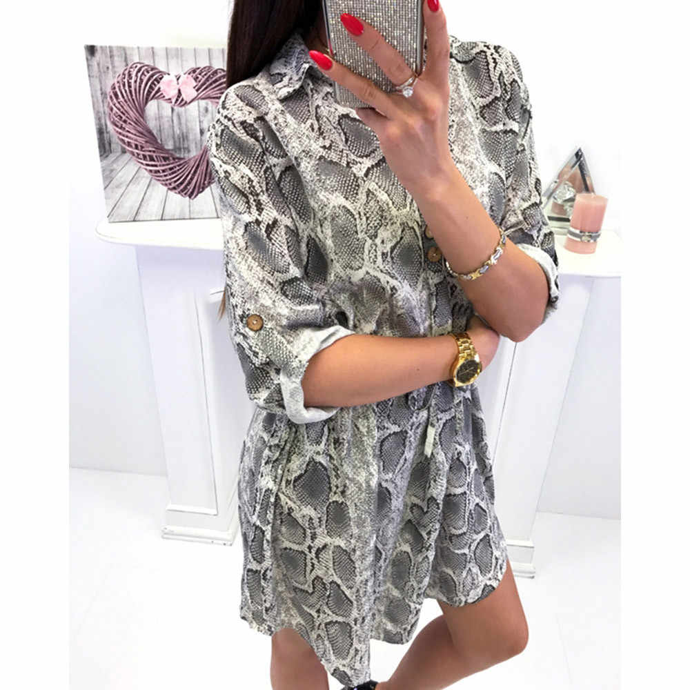 f1d6f1720933 Detail Feedback Questions about Women Sexy V Neck Leopard Print Long Sleeve  Button Lace up Party Wrap Mini Dress vestidos verano 2018 vestidos  Dropshipping ...