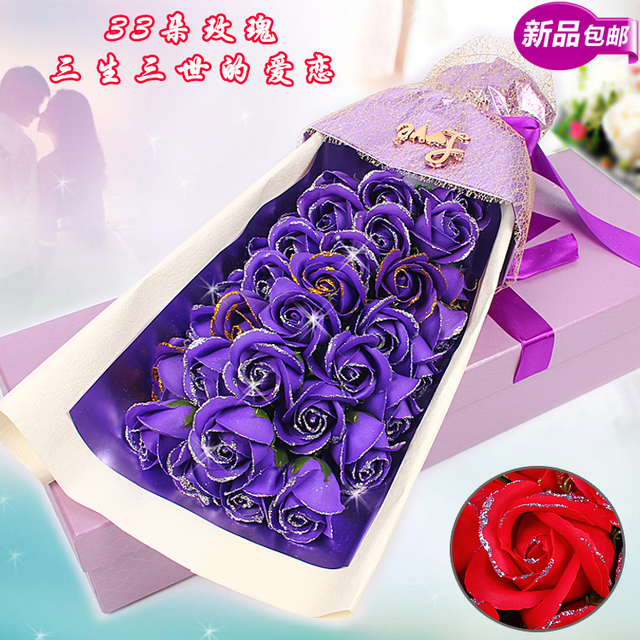 Dual 11 Christmas Gift Ideas To Send His Girlfriend A Birthday Soap Flower Girl Bouquet Of Roses Box