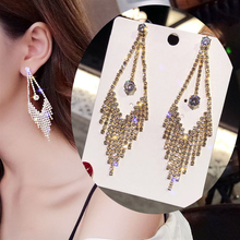Simple Bling Rhinestone Tassel Earrings Elegant Geometric Earrings For Women Fashion Jewelry Accessories Gift boucle d'oreille yimaautotrims middle control gear shift multimedia cover trim interior mouldings fit for mercedes benz gle w166 2016 2017 2018