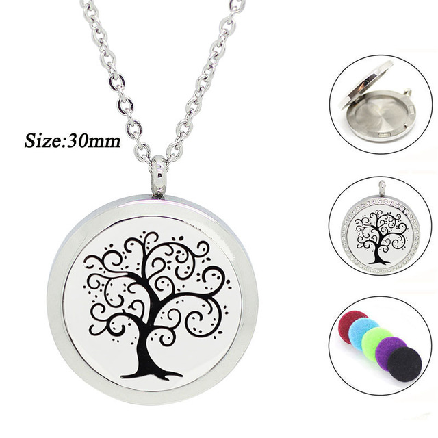 316l stainless steel round tree of life aromatherapy pendant for 316l stainless steel round tree of life aromatherapy pendant for women essential oil diffuser necklace perfume aloadofball Images