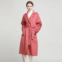 MLCRIYG 2019 осень зима пальто женское теплое шерстяное пальто женское длинное женское кашемировое пальто двухсторонняя шерстяная куртка Верхн