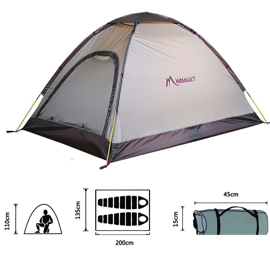 2 Persons Ultralight Outdoor Tents For Garden Waterproof Tent For Fishing Hiking Picnic Free Shipping