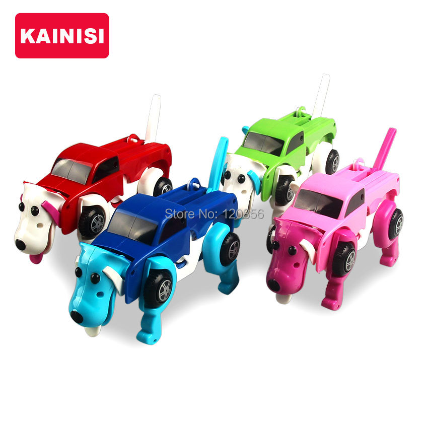 free-shipping-4-colors-14CM-cool-Automatic-transform-Dog-Car-Vehicle-Clockwork-Wind-up-toy-for-children-kids-boy-girl-toy-Gift-5