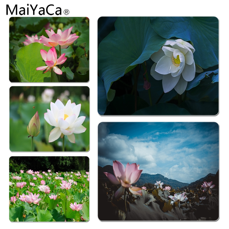 MaiYaCa Cool New Breeze Over White Lotus Computer Gaming Mousemats Size for 18x22cm 25x29cm Rubber Mousemats