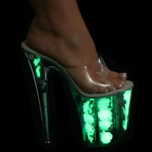 ФОТО Classic Ultra 20CM Open Toe High Heel Sandals Women High Heel Platform Shoes, Pole Dance / Model / Wedding Shoes