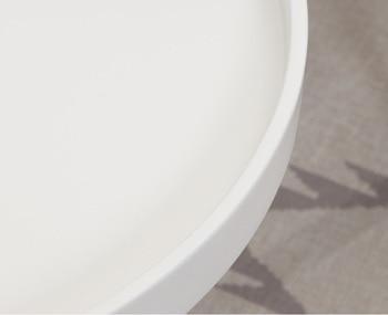 Table Basse Blanche Et Noire | Table Basse De 80cm + 50cm De Haut/pieds En Bois/dessus En Panneau De Fibres De Bois En Noir Ou Blanc