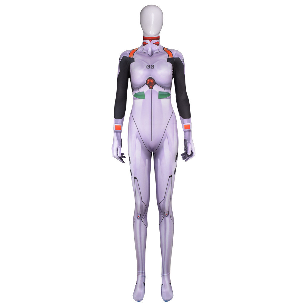 Cosplay Eva Evangelion Ayanami Rei Costume Lycra Hero Bodysuit Halloween Jumpsuits Zentai Suis Women Adult/kids Halloween Good Heat Preservation Novelty & Special Use Costumes & Accessories