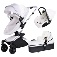 2017 Brand Top Sell Baby Strollers 360 Rotate Export Baby Strollers High Quality Leather White Black