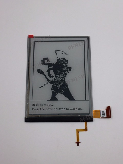 100% new eink LCD Display screen for  roverbook delta(FLHD6.0) eBook reader with backlight no touch free shipping