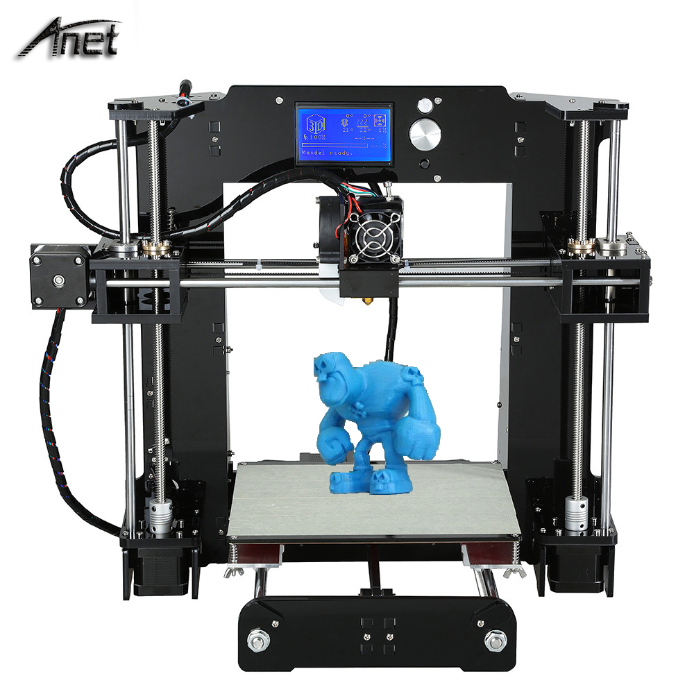 Anet 3d printer auto leveling A8 3D Printer kit printer Reprap Prusa i3 with Filament 8GB SD card LCD As Gift