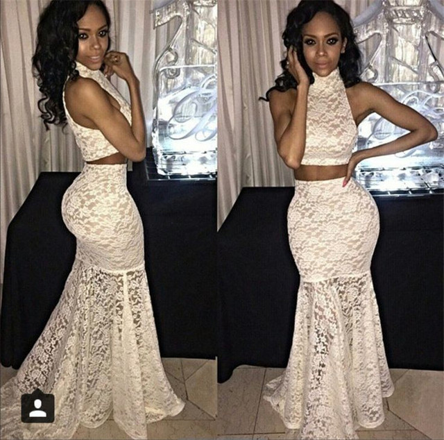 White Fitted Prom Dresses