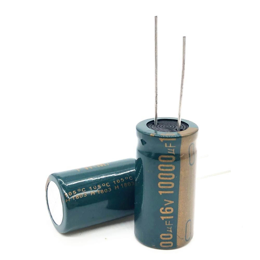 4pcs/lot 16V 10000UF 16*30  High Frequency Low Impedance Aluminum Electrolytic Capacitor 10000uf 16v