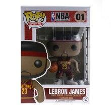 Genuine Funko PoP No.23 Basketball Super Star Lebron James Vinyl Figure Model Action Figurine Doll Car Decoration Christmas Gift