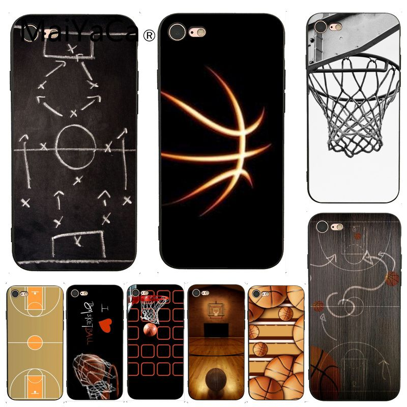 MaiYaCa For iphone 7 Case basketball court Lovely Phone Accessories Case for iPhone 7 X 6 6S 8 Plus 5 5S SE XS XR Case