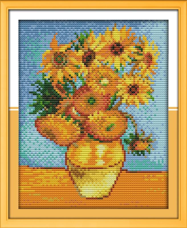 Sunflower Painting cross stitch