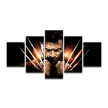 HAO SHUN DA Home Decor Movie Wolverine Claws Print Canvas