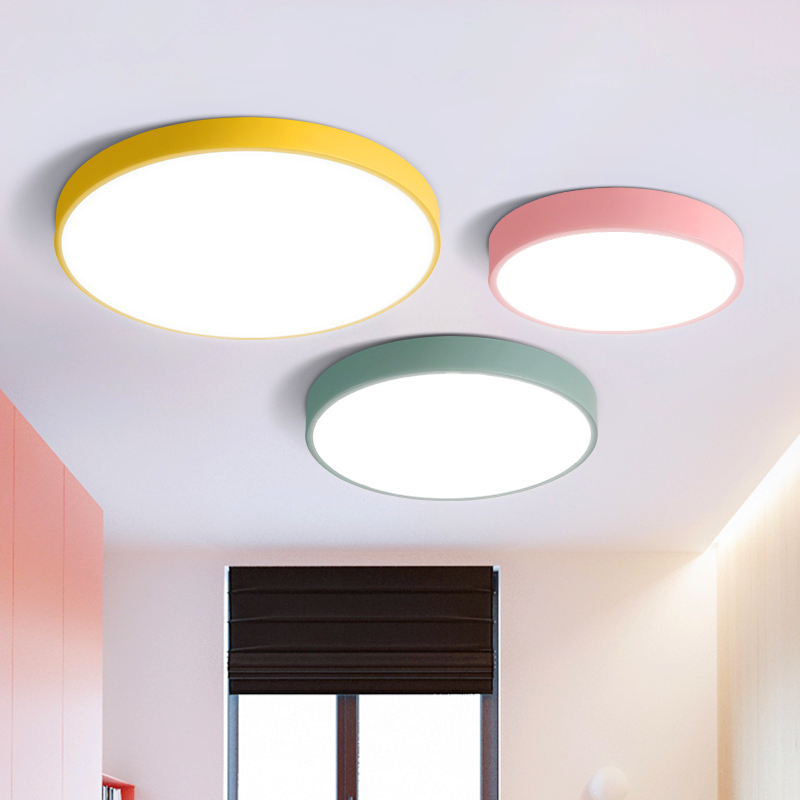 Modern simple ultra-thin round living room Ceiling lighting bedroom fixtures balcony ceiling lamps led creative Ceiling Lights ultra living ultra living monochromatic adventure