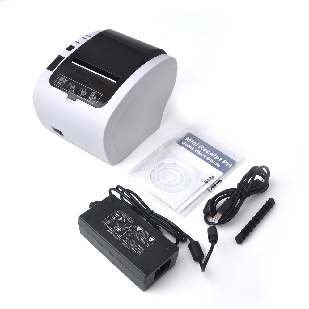 GZ8002 80mm thermal receipt bill printers Kitchen Restaurant POS printer With automatic cutter function Stylish appearance цена 2017