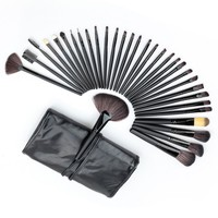 Hot Professional 32 PCS Cosmetic Facial Make Up Brush Kit Wool Makeup Brushes Tools Set With
