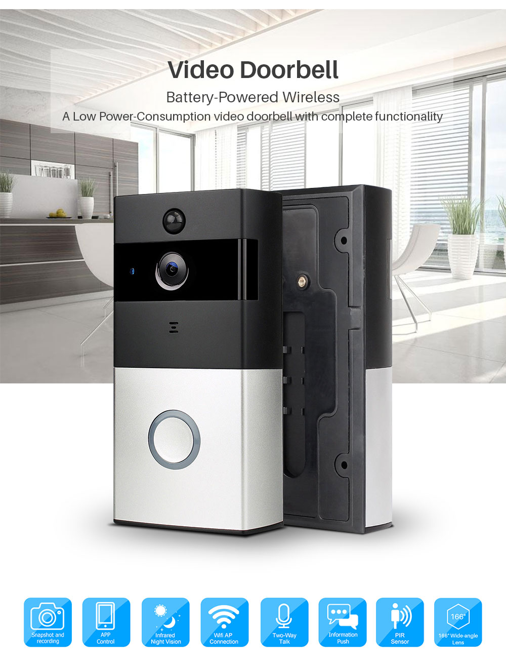 Smart Video Doorbell Camera (2)