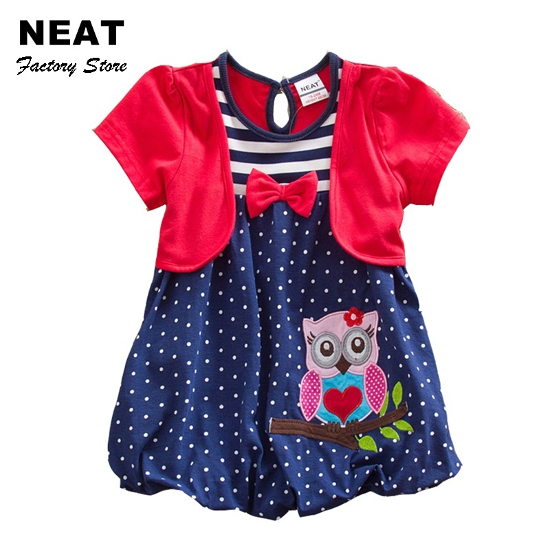 Retail 2017 NEAT Brand Dress Baby Girl Print Tutu Lace Princess Dresses Vestidos Children Clothing Kid Wear Dot SG006 2016summer new children s clothing children dress girl princess dress tutu dress children in europe and america style lace dress