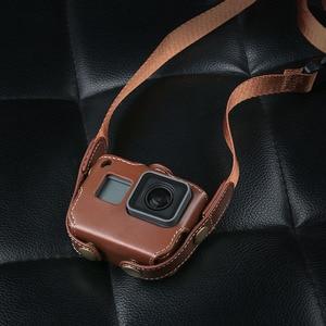 Image 3 - Schutzhülle für Gopro Hero 7 6 Black Edition PU Leder Tasche Fall Schutz für Go Pro Hero 7 6 5 Action Kamera Zubehör