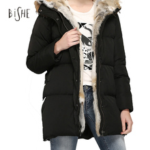 2017 New Fashion Winter Jackets Womens Duck Down Coat With Fur Collar Hood Parkas Outwear Plus Size 2XL Oversized Basic Jacket